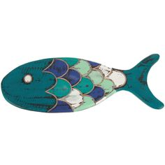 DEI Blue Fish Wall Art ($7.49) ❤ liked on Polyvore featuring home, home decor, wall art, beach home accessories, wooden fish wall art, beach home decor, wood home decor and beach scene wall art