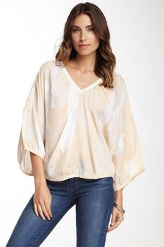 Silk Dolmen Sleeve Top