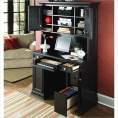 Hammary Camden Home Work Station in Black - 919-942-943-KIT