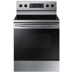 Samsung smooth surface freestanding 5 element 5 9 cu ft self cleaning
