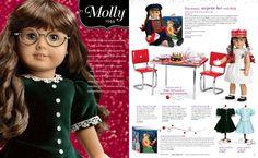 Molly was always my favorite American Girl!  I hope my granddaughters would want her but Kit and Ruthie won their hearts first.