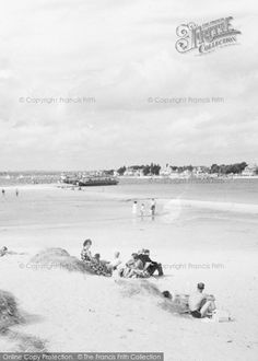 Sandbanks, On The Beach At Shell Bay from Francis Frith Vintage Pictures, Old Pictures, London Photographer, Bournemouth, City Photography, Childhood Memories, 1960s, Beautiful Places, Surfing