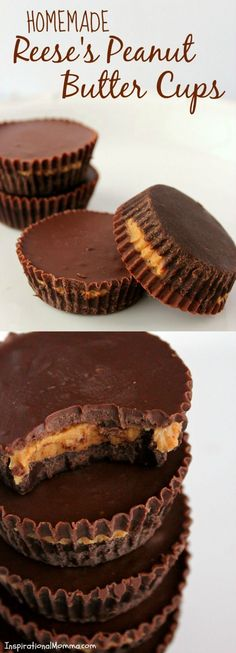 These Homemade Reese's Peanut Butter Cups will melt in your mouth and blow your mind! They are both easy and delicious!
