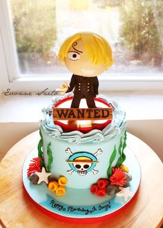 One Piece cake with Sanji on top