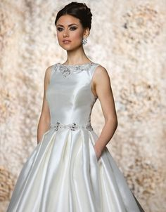 Bellethemagazine wedding dresses | Cristiano Lucci Collection | Floor Ivory Ball Gown Bateau $$ ($1,001-2,000)