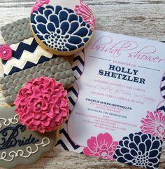 Handmade and Decorated Custom Bridal Sugar by FlourishCakes