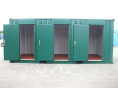 Container Care converted this shipping container into a multi store unit for a local self-storage company