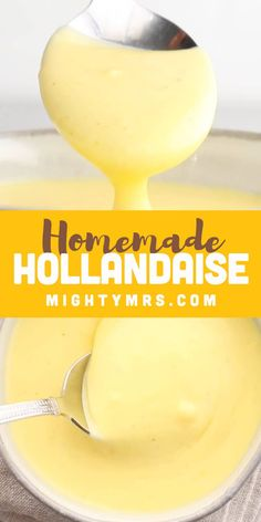 It's easier than you think to make homemade Hollandaise sauce from scratch. If you can use a whisk, you can make this sauce. Makes egg casseroles delicious! Brunch Recipes, Breakfast Recipes, Mexican Breakfast, Breakfast Sandwiches, Breakfast Pizza, Breakfast Bowls, Breakfast Sauce Recipe, Brunch Food, Breakfast Ideas