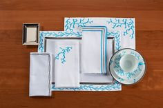 """""""Coral"""" Set Fitting embroidery designs for Super Yachts"""