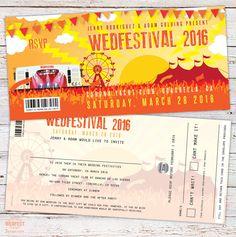 Coachella Wedfestival Festival Wedding Invitations - http://www.wedfest.co/jenny-adams-festival-wedding-invitation-coachella/