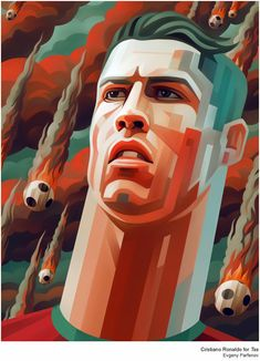 Cristiano Ronaldo illustration by Evgeny Parfenov Art And Illustration, Creative Illustration, Portrait Illustration, Graphic Design Illustration, Illustrations Posters, Graphic Art, Graphic Prints, Cristiano Ronaldo, Ronaldo Soccer