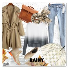 """Rainy Day Style"" by j-sharon ❤ liked on Polyvore featuring Orla Kiely, NoSoX, vintage, Sheinside and rainydaystyle"