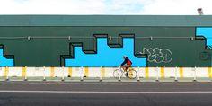 new mural (05/2014) by Aakash Nihalani at the Domino Sugar Factory