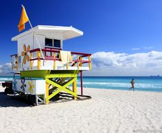 Les plages de la Gold Coast : Miami Beach, Floride, USA