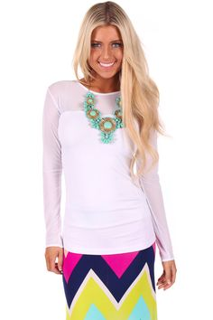 Lime Lush Boutique - White Mesh Detail Top, $24.99 (http://www.limelush.com/white-mesh-detail-top/)#fashion #style #chronicleblog #lovefashion #new #fashionblog #instafashion #photomodel #beauty #trend #queen #day #us #follow #girl #dress #princess #look #lookbook #like #beautiful #cute #sexy #iphonesia