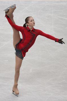 Julia Lipnitskaia of Russia competes in the Ladies Free Skating during ISU World Figure Skating Championships at Saitama Super Arena on Marc...
