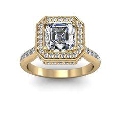 1.10ct Halo Asscher Channel Natural Diamonds Engagement Ring  #asschercutdiamond #asscher #asschercutengagementring #halo $1813