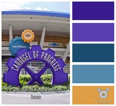 Disney Park Photography - Photo: Carousel of Progress Sign Colors