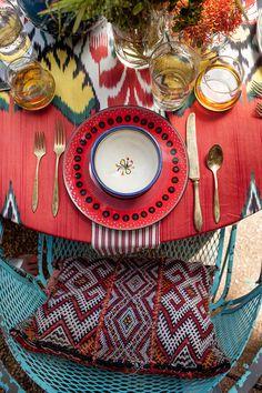 a moroccan summer table #decor #styling #Marrocos