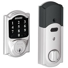 New Model Schlage Connect Camelot Touchscreen Deadbolt with Zwave Technology and Extra Key Bright Chrome * For more information, visit image link.