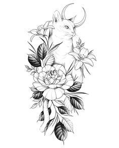 tattoo tattoo idea # 52087 shared by Ashlee Future Tattoos, Love Tattoos, Body Art Tattoos, Small Tattoos, Tattoo Sketches, Tattoo Drawings, Art Sketches, Art Drawings, Black Cat Tattoos