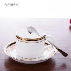 Mediterranean Sea Bone China Coffee Mug Cup Home Garden Dining Room Coffee Tea Set