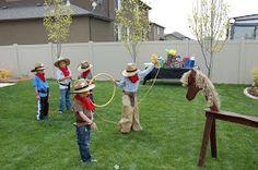 cowboy birthday party games restless risa