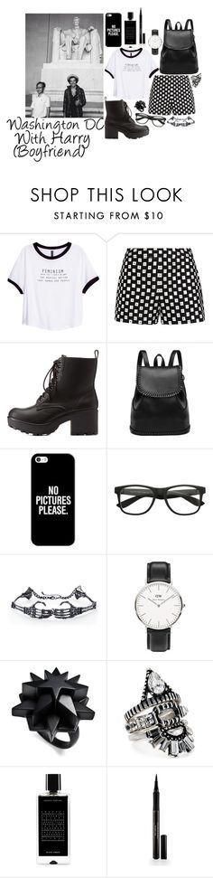 """""""Washington DC with Harry"""" by gingy333 ❤ liked on Polyvore featuring H&M, sass & bide, Charlotte Russe, Casetify, Daniel Wellington, Eddie Borgo, BaubleBar, Agonist and Elizabeth Arden"""
