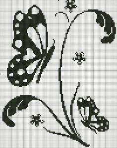 Thrilling Designing Your Own Cross Stitch Embroidery Patterns Ideas. Exhilarating Designing Your Own Cross Stitch Embroidery Patterns Ideas. Filet Crochet Charts, Cross Stitch Charts, Cross Stitch Designs, Cross Stitch Patterns, Butterfly Cross Stitch, Crochet Butterfly, Cross Stitch Flowers, Cross Stitching, Cross Stitch Embroidery
