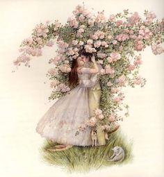 Angela Barrett, Beauty and the Beast book illustration! Inspiration Artistique, Fairytale Fantasies, Royal College Of Art, Children's Book Illustration, Book Illustrations, Faeries, Beauty And The Beast, Illustrators, Book Art