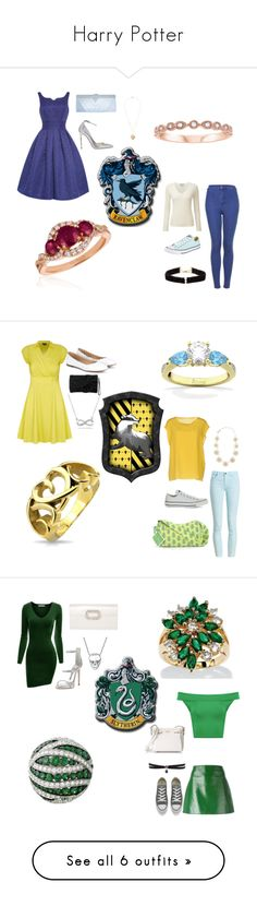 """Harry Potter"" by hermionescamander ❤ liked on Polyvore featuring GCGme, Jimmy Choo, Topshop, Pure Collection, Converse, Anissa Kermiche, LE VIAN, City Chic, Chloé and Karen Millen"