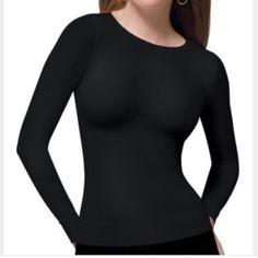 NWT Spanx long sleeve crew neck shaping top in XL NWT black Spanx shaping crew neck long sleeve top.  Black in XL. SPANX Intimates & Sleepwear Shapewear
