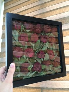 Bouquet Shadow Box, Flower Shadow Box, Pressed Flowers Frame, Flower Frame, Diy Resin Crafts, Diy Crafts Hacks, Drying Roses, Empty Frames, How To Preserve Flowers