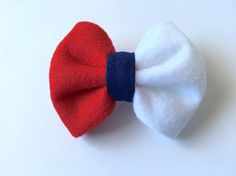 Red white and blue hair bow Blue Hair Bows, Girl Hair Bows, Girl Hairstyles, Red And White, Ladies Hair Styles, Girls Hairdos