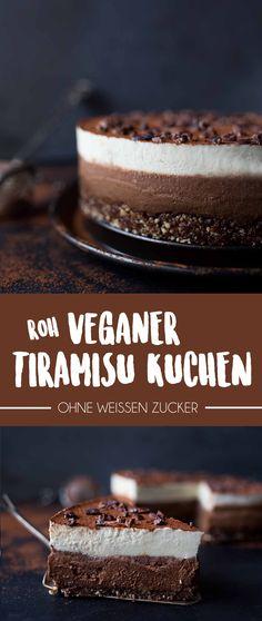 Roh veganer Tiramisu Kuchen