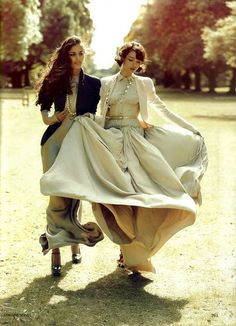 Vogue India October 2009; love the flowy dress in motion
