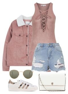 """""""Untitled #428"""" by margaridasilv ❤ liked on Polyvore featuring Ray-Ban, Topshop, adidas Originals and Valextra"""