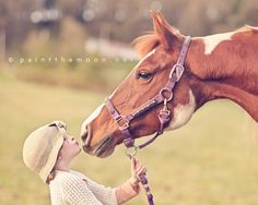 The love between a girl and her horse is like no other.  http://paintthemoon.net/blog