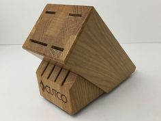Cutco Wood KNIFE BLOCK For Studio Set + 4 Made In The USA #Cutco