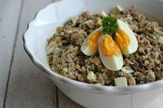 Čočkový salát s vejcem a tuňákem | Recepty | PEČENĚ-VAŘENĚ
