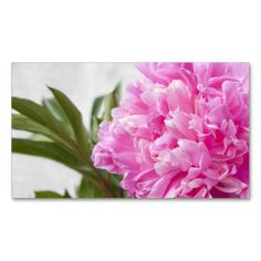 Pink peony flower floral business or profile card business cards. This great business card design is available for customization. All text style, colors, sizes can be modified to fit your needs. Just click the image to learn more!