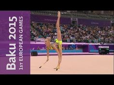 Yana Kudryavtseva wins Individual All-Around Gold | Gymnastics Rhythmic | Baku 2015 European Games - YouTube