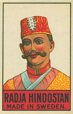 Indian matchbox label by Shailesh Chavda, via Flickr