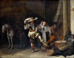 Pieter Quast - A Man and a Woman in a Stableyard