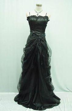Masquerade Ball Gowns | 14 16 Black Masquerade Ball Dress Goth Dress Sale | eBay