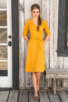 Share your Shabby!  Ali Dress Mustard