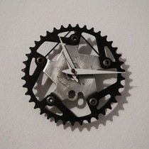 Upcycled Vintage Gt Bmx Bike Chain Ring Clock