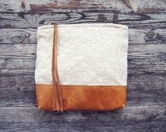 Cream and Lace leather pouch @scoutandcatalogue $48