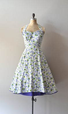 1950s dress / 50s halter dress / Carolyn Schnurer dress by DearGolden, $224.00