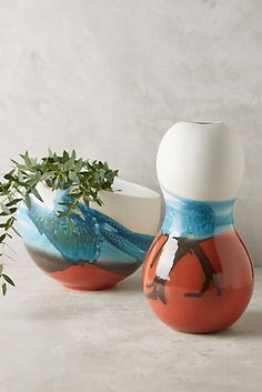 Andala Porcelain decorative pots to use after decluttering.